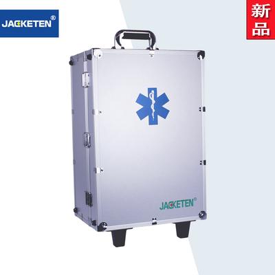 盈佳国际 JKT-031便携式复苏急救箱 医用高端铝合金出诊药箱 带拉杆